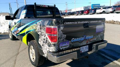 The company truck doesn't leave anything to be desired either - a full decal wrap for this truck!